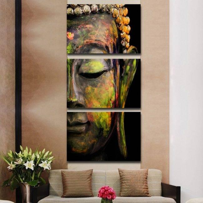 Toile Peinture Buddha 3 pièces Tableaux zen brand: Chakras Shop