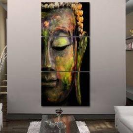 Toile Peinture Buddha 3 pièces