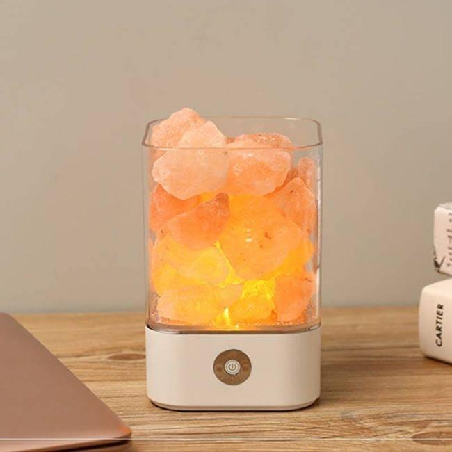 Lampe de l'himalaya USB