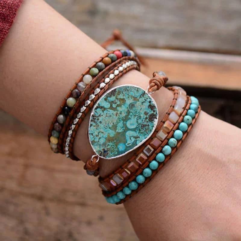 Bracelet Pierre Naturelle de Poseïdon Bijoux pierre naturelle Bracelet pierre naturelle