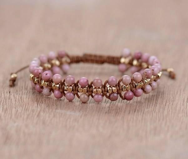 Bracelet Pierre Naturelle En Rhodonite Bijoux pierre naturelle Bracelet pierre naturelle Type de l'article: Bracelets