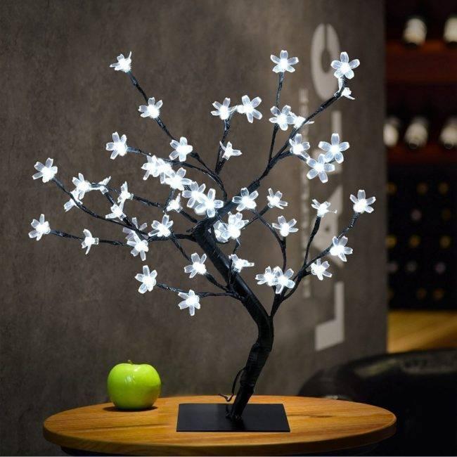 Bonsaï lumineux «Fleurs de Cerisier»