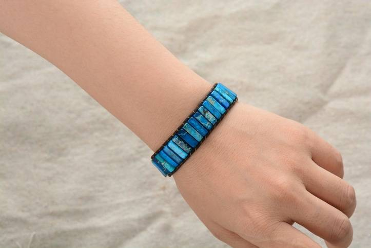 Bracelet des 2 éléments Bijoux pierre naturelle Bracelet pierre naturelle
