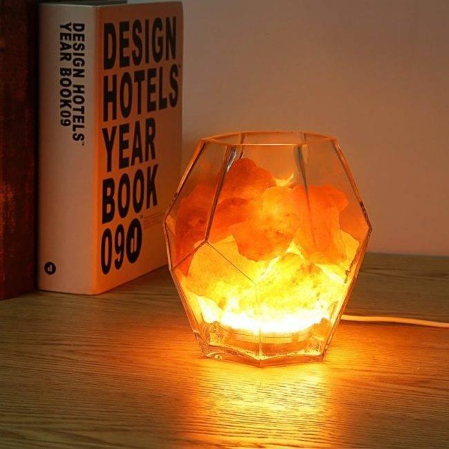 Lampe Prisme en Cristal de Sel