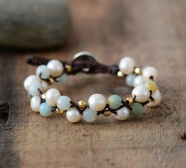 Bracelet Muguet en Perles Naturelles