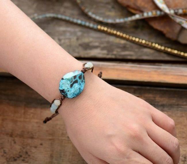 Bracelet Écaille d'Amazonite