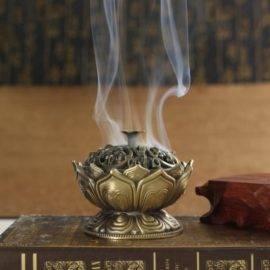 Porte et Brule Encens Fleur de Lotus