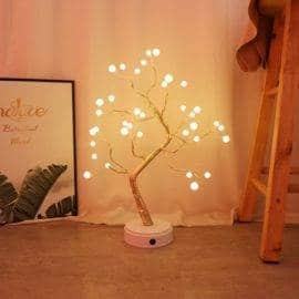 Bonsaï lumineux «Fleurs de Cerisier» Deco zen Lampe D'Ambiance