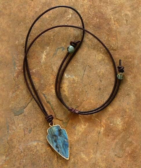 Collier Flèche de Labradorite