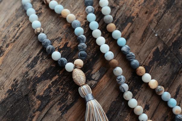 Collier d'Amazonite bleue Bijoux pierre naturelle Collier pierre naturelle