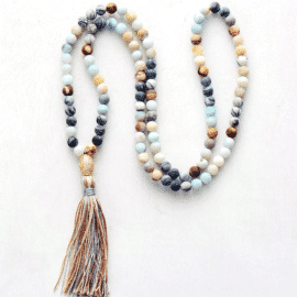 Collier d'Amazonite bleue Bijoux pierre naturelle Collier pierre naturelle Type de l'article: Colliers
