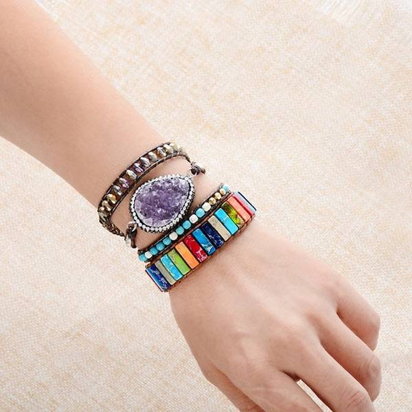 Bracelet Boheme Arc-en-ciel