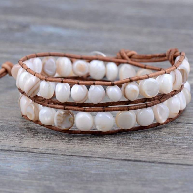 Bracelet en perles naturelles
