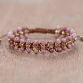 Bracelet Perles de Cerisier en Rhodonite