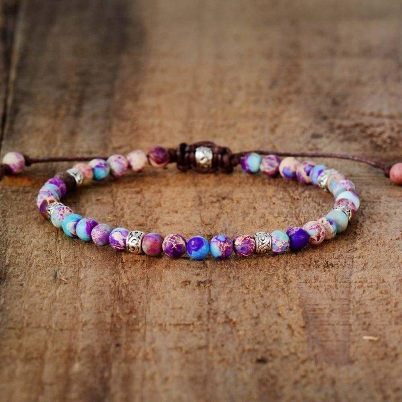Bracelet d'amitié en Jaspe Bijoux homme en pierre naturelle Bijoux pierre naturelle Bracelet pierre naturelle