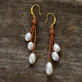 Boucles d'oreilles en pierres naturelles