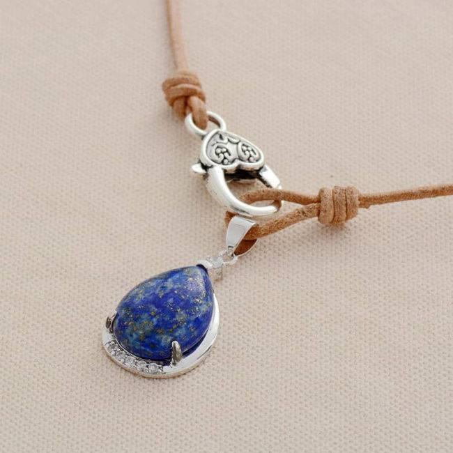 Collier Lapis Lazuli Bijoux pierre naturelle Collier pierre naturelle