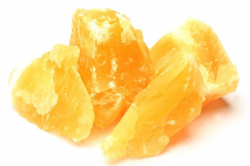 Pierre de calcite orange