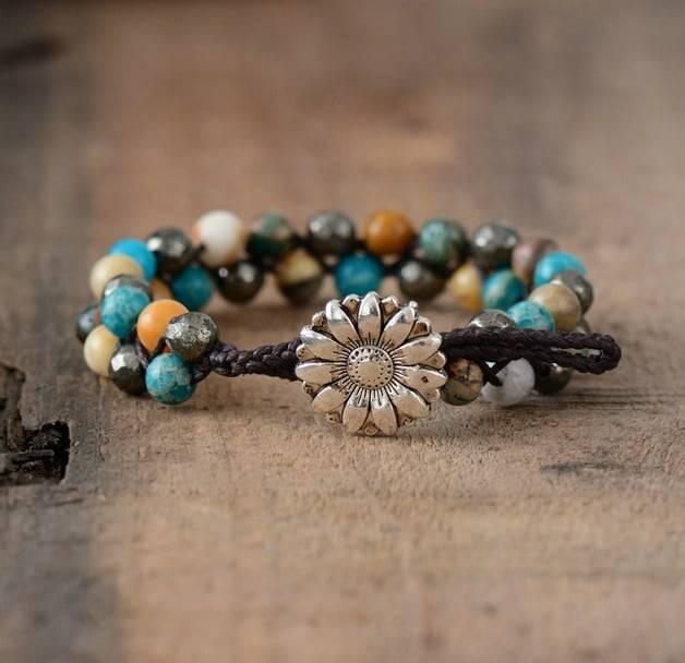 Bracelet Fleur de Pyrite