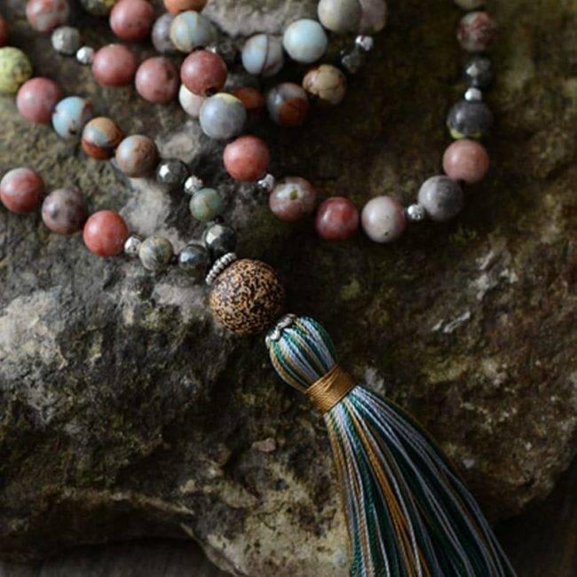 Collier Mala en Pyrite Naturelle