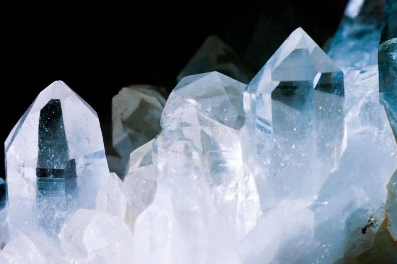Bloc de cristal de roche