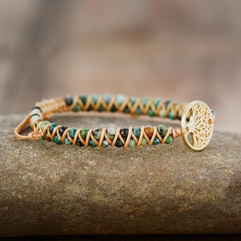 Bracelet Arbre de vie en Pierre de Jaspe