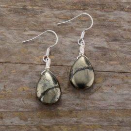 Boucles d'oreilles en pyrite naturelle