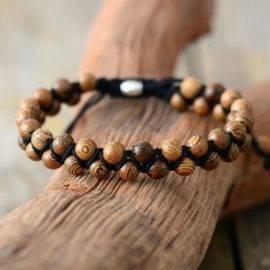 Bracelet de couple en bois