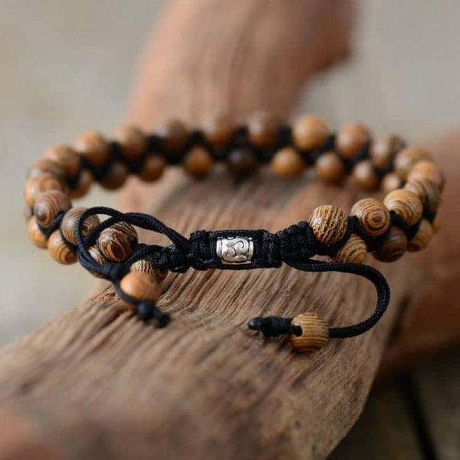Bracelet de couples en bois naturel
