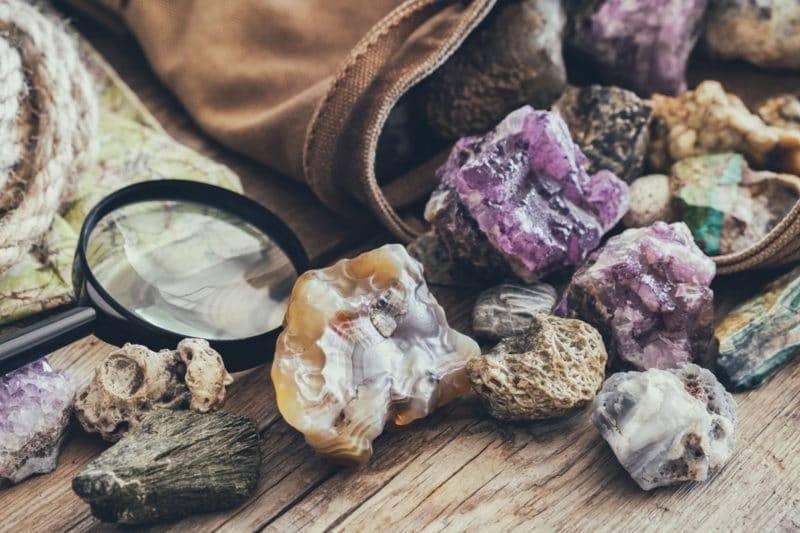 Collection de pierres naturelles