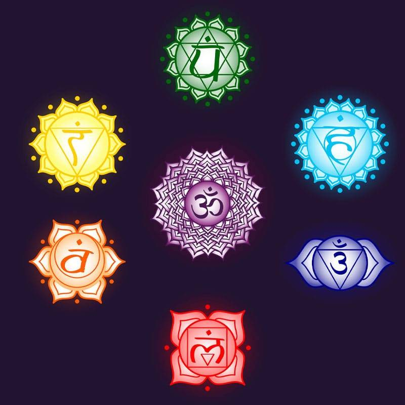 Illustration des sept chakras