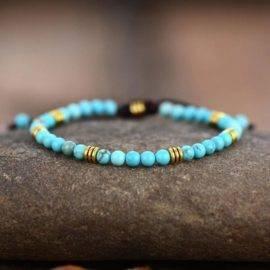 Bracelet minimaliste turquoise