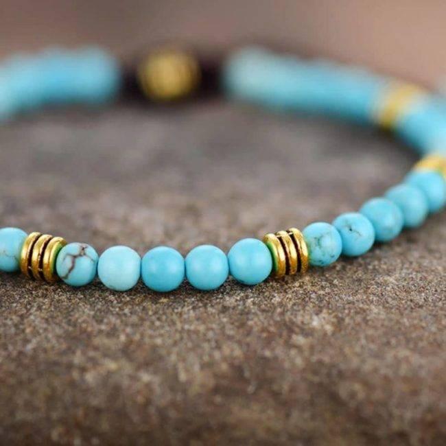 Bracelet minimaliste en Turquoise