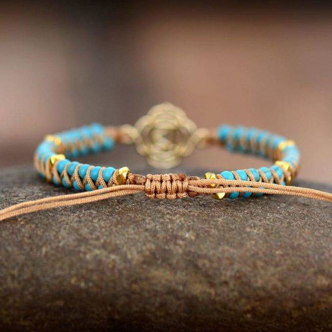 Bracelet Pierre Naturelle Turquoise Bijoux homme en pierre naturelle Bijoux pierre naturelle Bracelet pierre naturelle