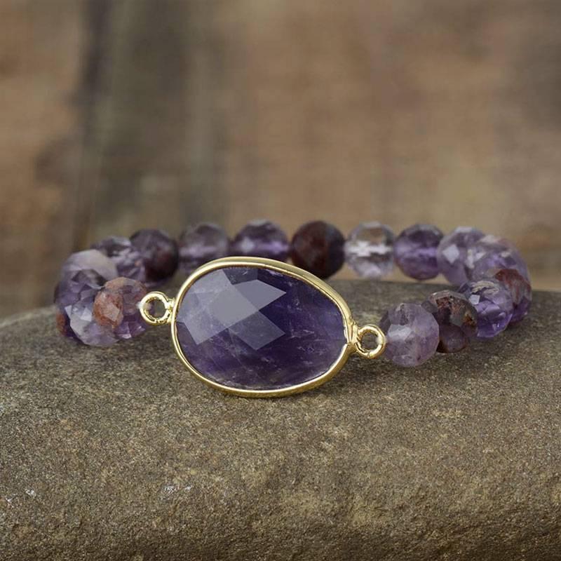Bracelet Reine de l'Améthyste