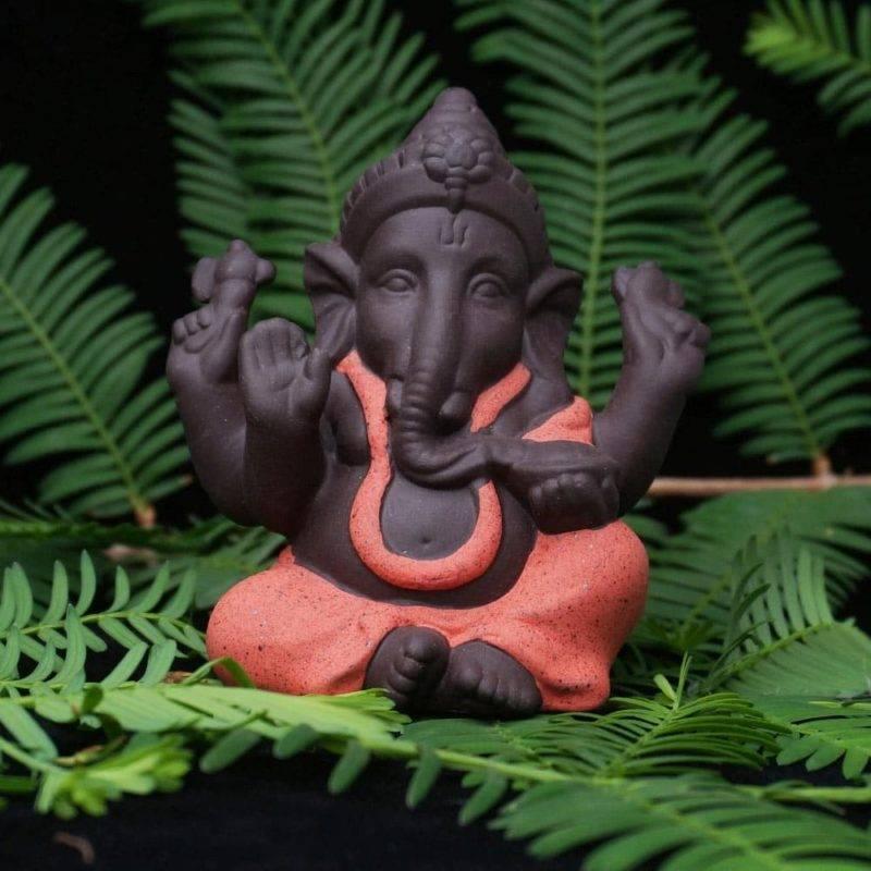 Statuette de Ganesh en céramique