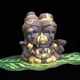 Statuette de Ganesh, Parvati et Shiva
