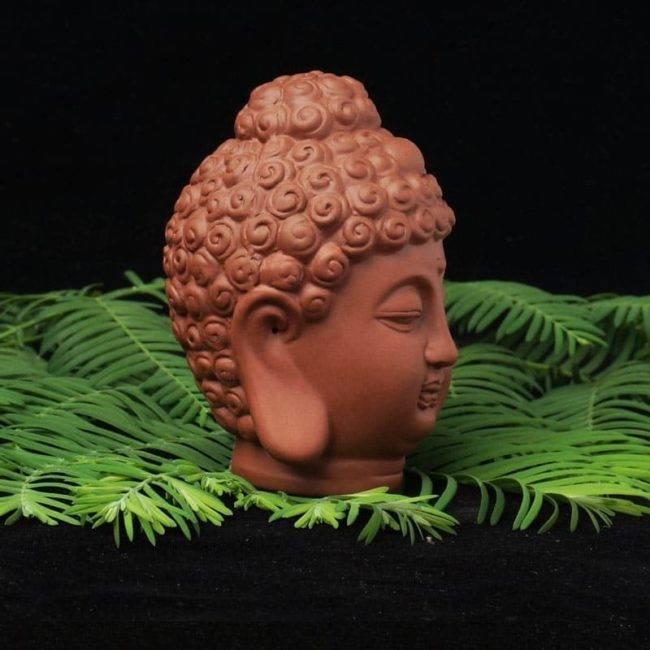 Statuette tête de Bouddha en céramique