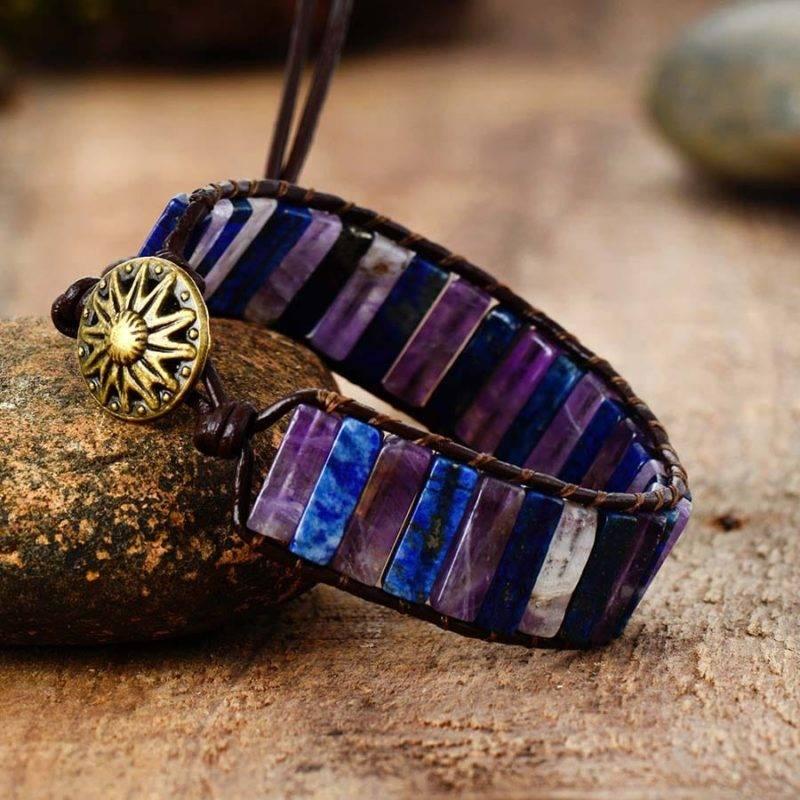 Bracelet Anti Stress Bijoux homme en pierre naturelle Bijoux pierre naturelle Bracelet pierre naturelle