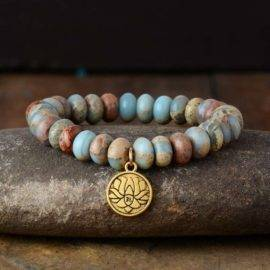 Bracelet Fleur de Lotus en Jaspe