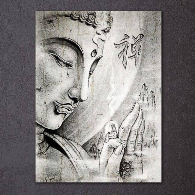 Tableau Bouddha Zen