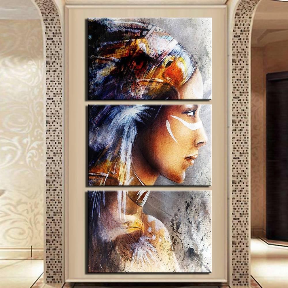 Tableau tribu Amérindienne