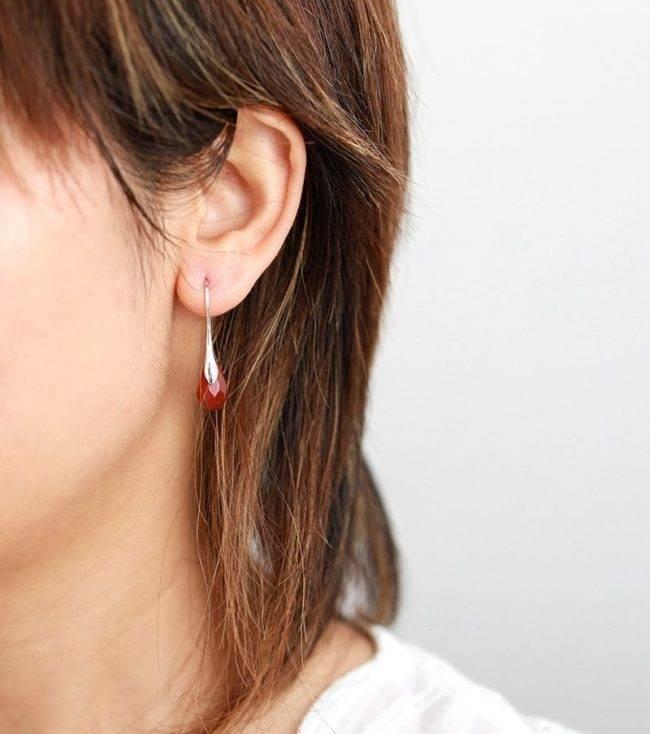 Boucles d'oreilles Reine de la Jaspe rouge Bijoux pierre naturelle Boucles d'oreilles pierre naturelle Type de métaux: Cuivre