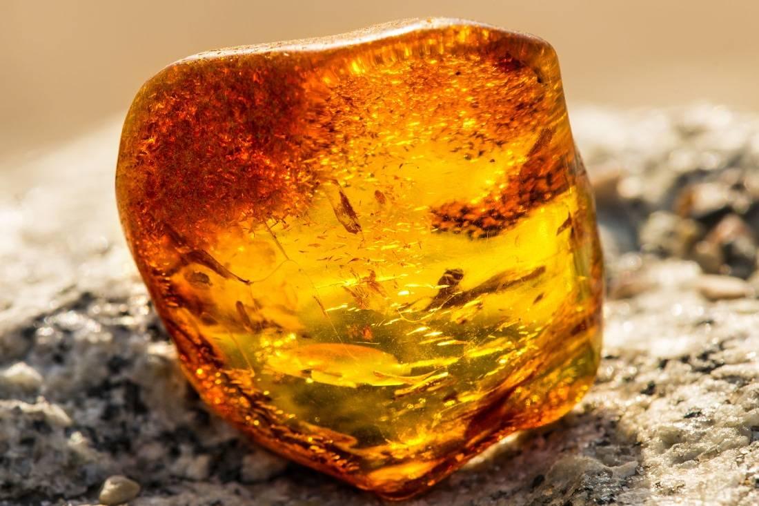 Bloc naturel d'ambre