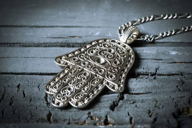 Amulette de main de fatma en métal