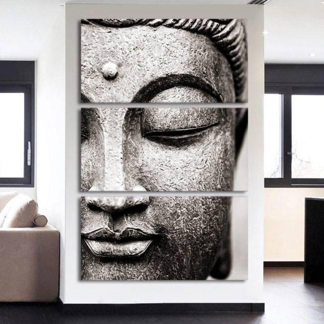 Tableau Bouddha zen 3 pièces
