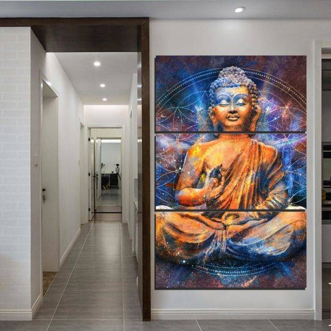 Peinture Bouddha Rayonnant