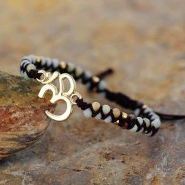 Bracelet Om en Amazonite