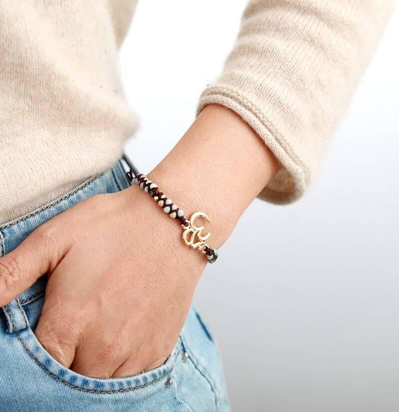 Bracelet Ohm Amazonite Bijoux homme en pierre naturelle Bijoux pierre naturelle Bracelet pierre naturelle