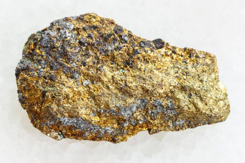 Bloc naturel de pyrite